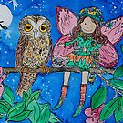 Tea in a Tree with BooBook Owl, Norfolk Island by Amanda  Hazlett