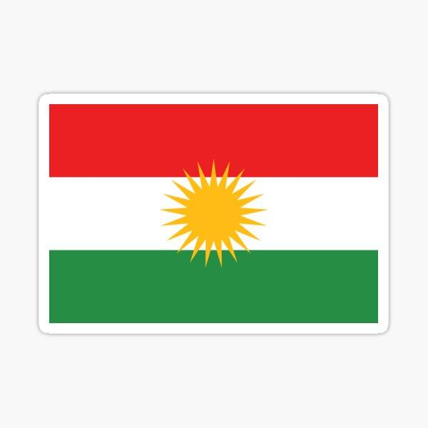 Flagge von Kurdistan Sticker