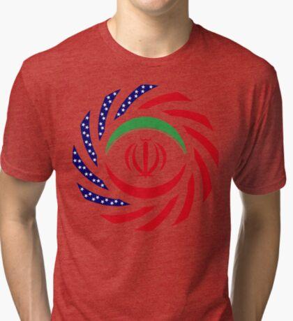 Iranian American Multinational Patriot Flag Series Tri-blend T-Shirt