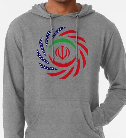 Iranian American Multinational Patriot Flag Series Lightweight Hoodie