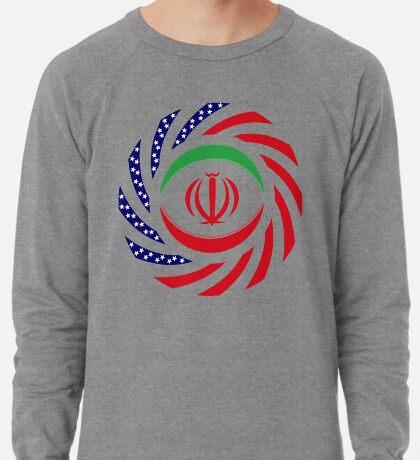 Iranian American Multinational Patriot Flag Series Lightweight Sweatshirt
