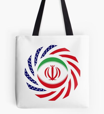 Iranian American Multinational Patriot Flag Series Tote Bag