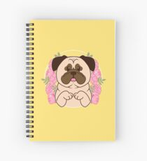 Cinnamon the Pug Spiral Notebook