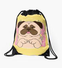 Cinnamon the Pug Drawstring Bag
