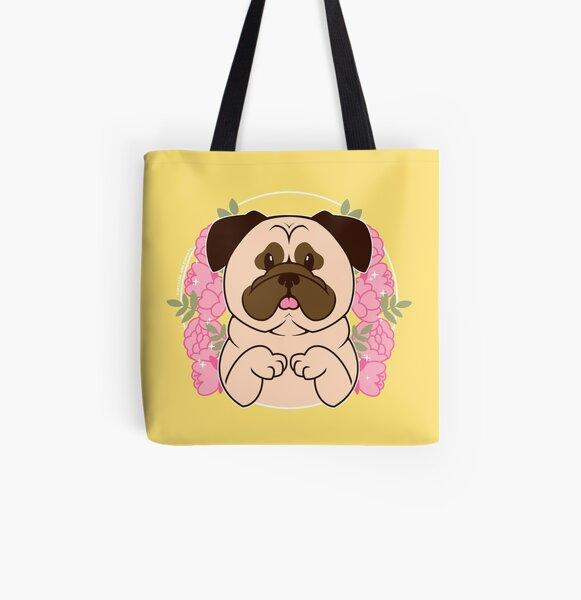 Cinnamon the Pug All Over Print Tote Bag