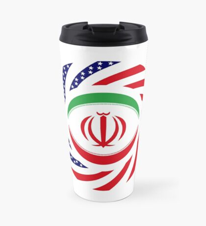 Iranian American Multinational Patriot Flag Series Travel Mug