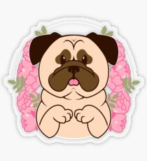 Cinnamon the Pug Transparent Sticker