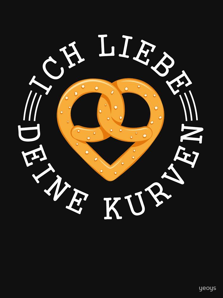 Ich Liebe Deine Kurven - Brezel Geschenk by yeoys