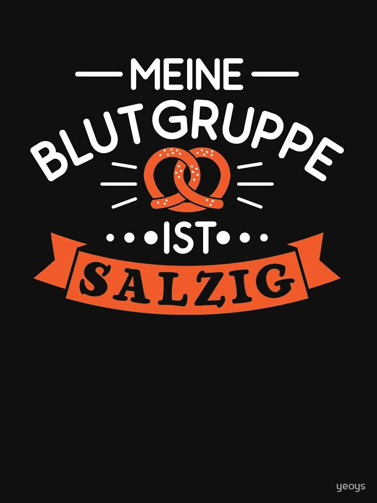 Meine Blutgruppe Ist Salzig - Brezel Geschenk by yeoys