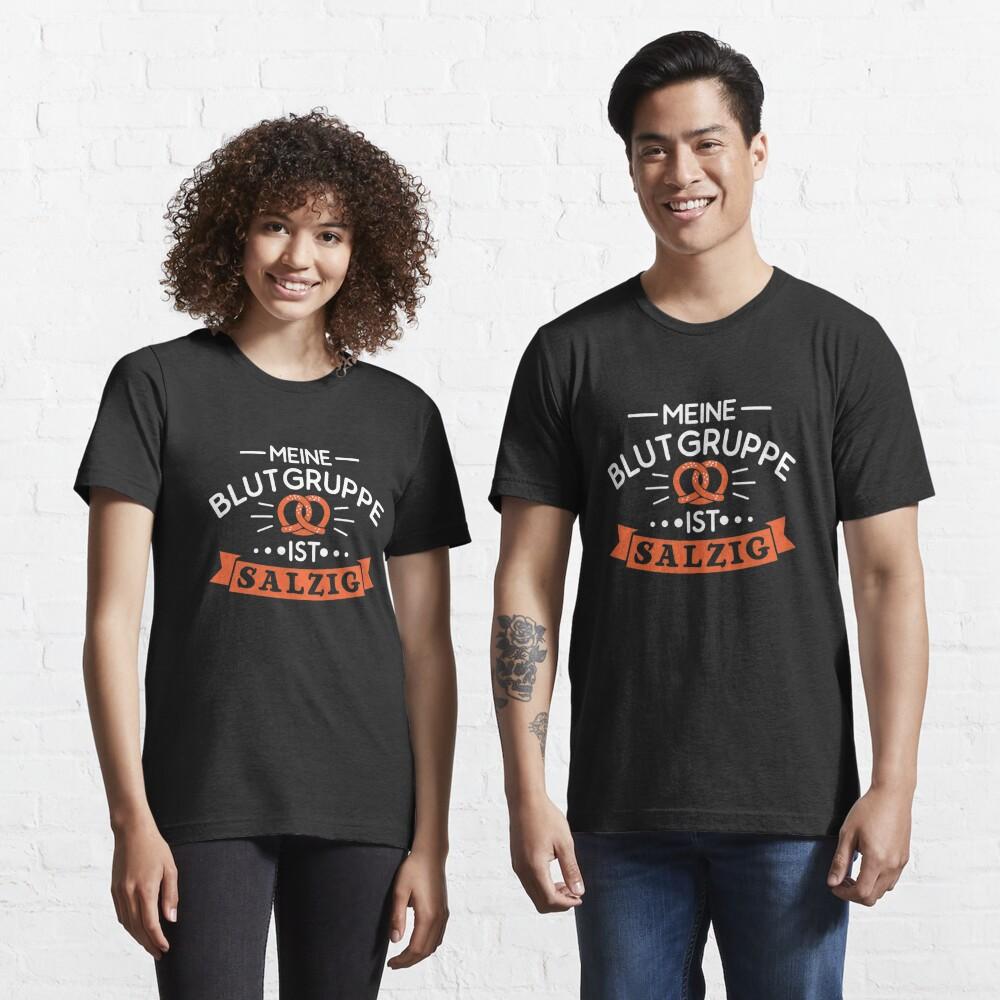 Meine Blutgruppe Ist Salzig - Brezel Geschenk Essential T-Shirt