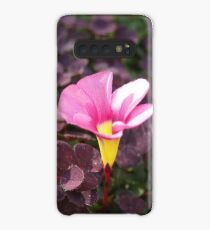 Pink Oxalis Flower Case/Skin for Samsung Galaxy