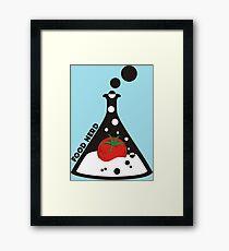 Funny food nerd tomato chemistry beaker Framed Print