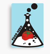 Funny food nerd tomato chemistry beaker Canvas Print