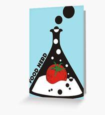 Funny food nerd tomato chemistry beaker Greeting Card