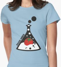 Funny food nerd tomato chemistry beaker Womens Fitted T-Shirt