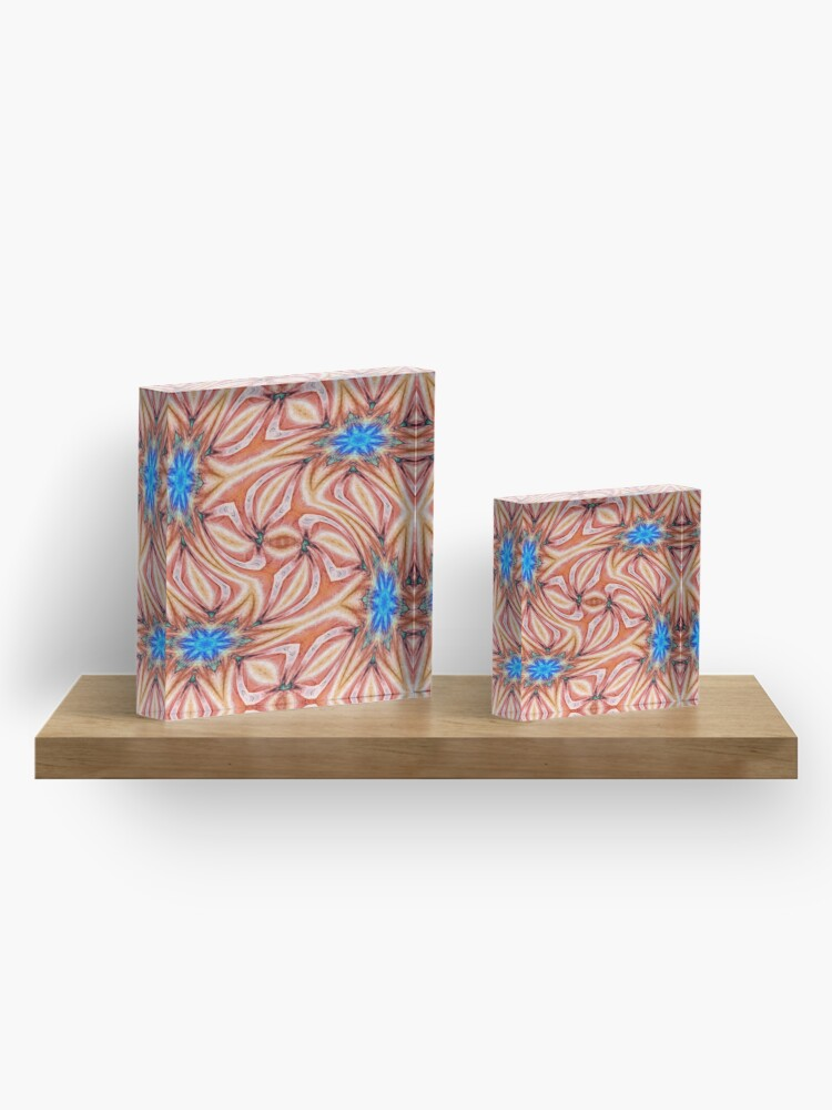 Alternate view of Motif, Visual Art, Kaleidoscope Acrylic Block