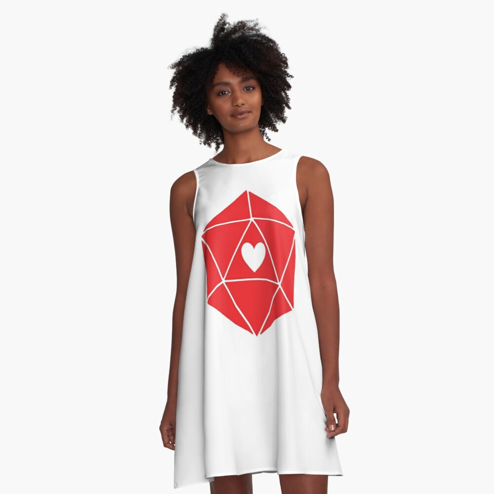 D20 Heart A-Line Dress