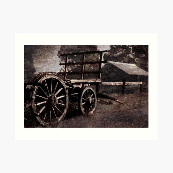 The Old Cart Art Print