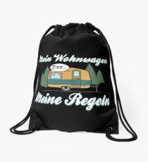 Mein Wohnwagen Meine Regeln - Lustiges Camping Geschenk Turnbeutel