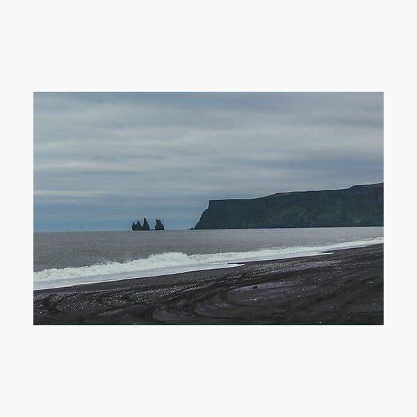 Black Sand Beach Photographic Print