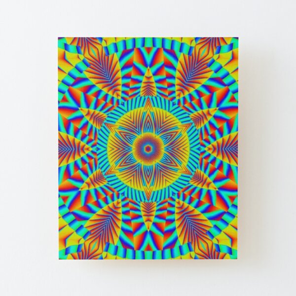 Psychedelic art, Art movement Wood Mounted Print