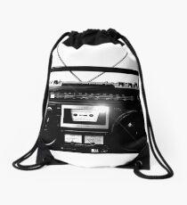 Ghetto Blaster Vintage Drawstring Bag