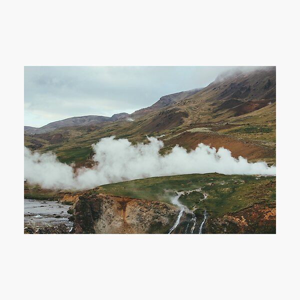 The Geysers of Selfoss Photographic Print