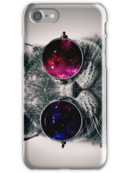 Quot Cool Cat W Glasses Quot Iphone Cases Amp Skins By Sa5m Redbubble