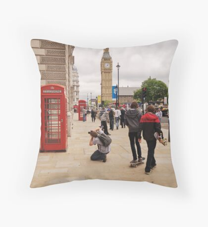 Westminster Photographer in Action Throw Pillow
