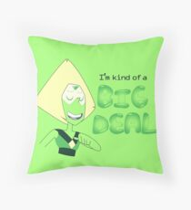 Peridot's kind of a big deal Throw Pillow