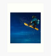 Into the realm. Snowboarding. Art Print