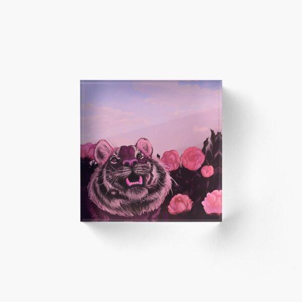 Pink Tiger Acrylic Block