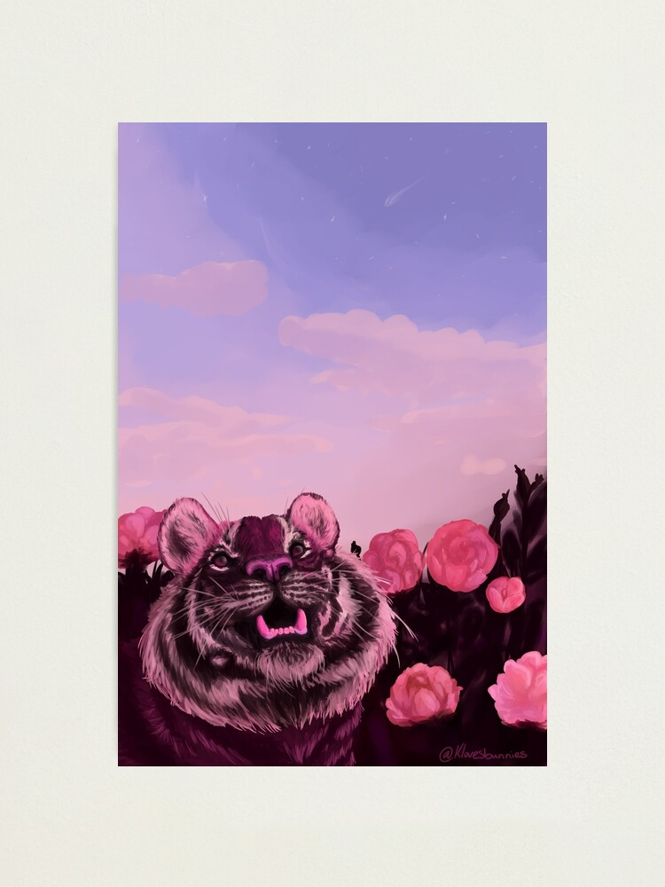 Alternate view of Pink Tiger Photographic Print
