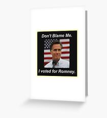 I Voted Romney Greeting Card