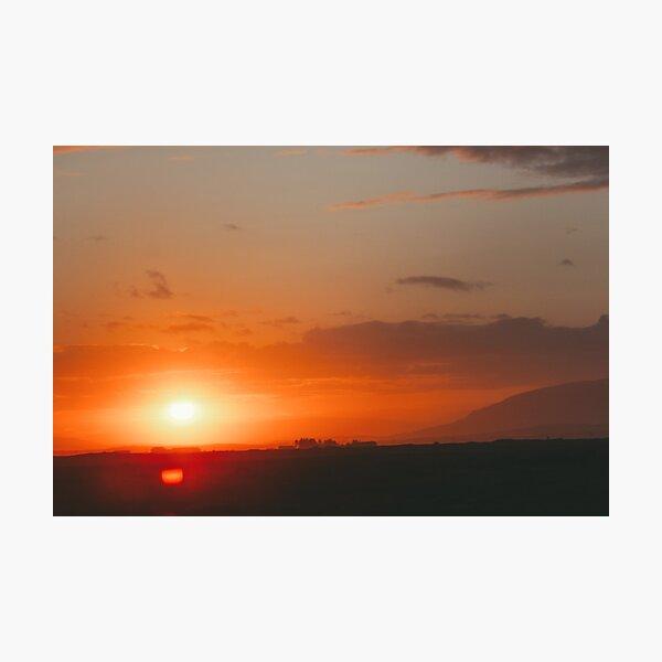 An Icelandic Sunset Photographic Print