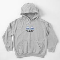 The eyes are the groin of the head (for lighter colored shirts) Kids Pullover Hoodie