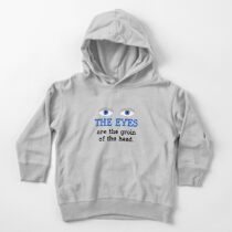 The eyes are the groin of the head (for lighter colored shirts) Toddler Pullover Hoodie
