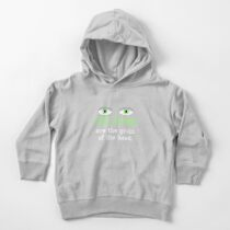 The eyes are the groin of the head (for darker colored shirts) Toddler Pullover Hoodie