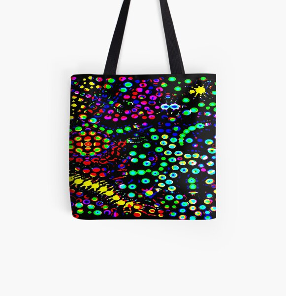 Neon Nightmare All Over Print Tote Bag