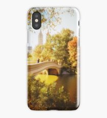 Autumn - Central Park - Bow Bridge - New York City iPhone Case/Skin