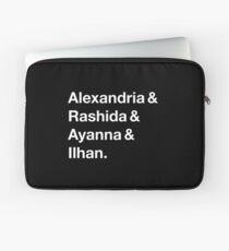 Alexandria & Ilhan & Ayanna & Rashida. (for darker shirts) Laptop Sleeve