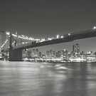 City Night - New York - Brooklyn Bridge by Vivienne Gucwa