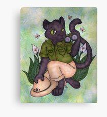 Panther On Safari Canvas Print