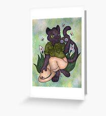 Panther On Safari Greeting Card