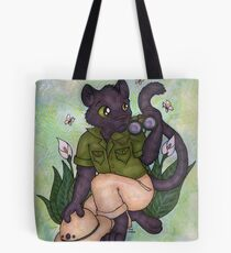 Panther On Safari Tote Bag