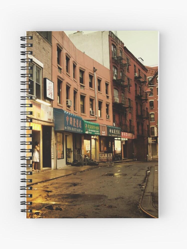 Rainy Evening New York City Chinatown Spiral Notebook By Vgucwaphoto Redbubble