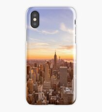 New York City Skyline - Skyscrapers at Sunset iPhone Case