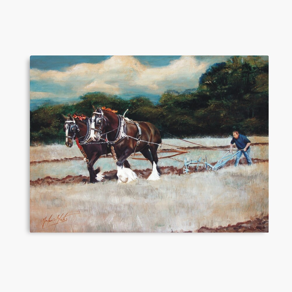 A Day at Spernall Canvas Print