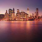 New York City Night Skyline by Vivienne Gucwa