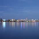 Perth City Reflections - Panorama by Stephen Horton